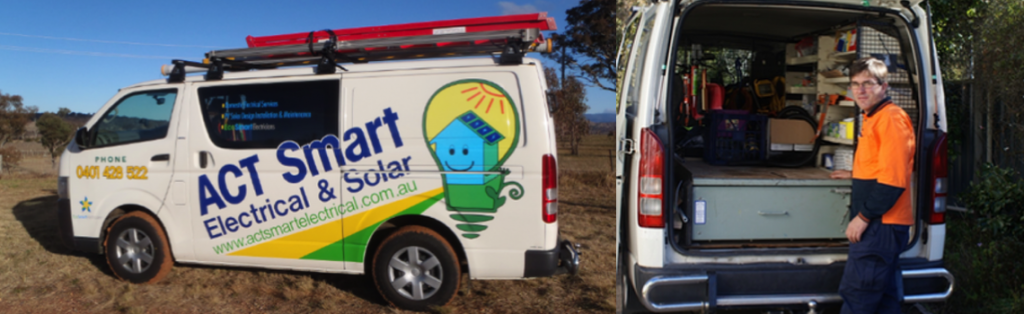 Image of the ACT Smart Electrical and Solar Van, Contact Us here on this page